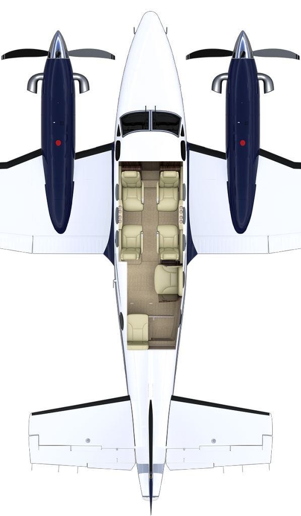 Illustration Of King Air Cabin