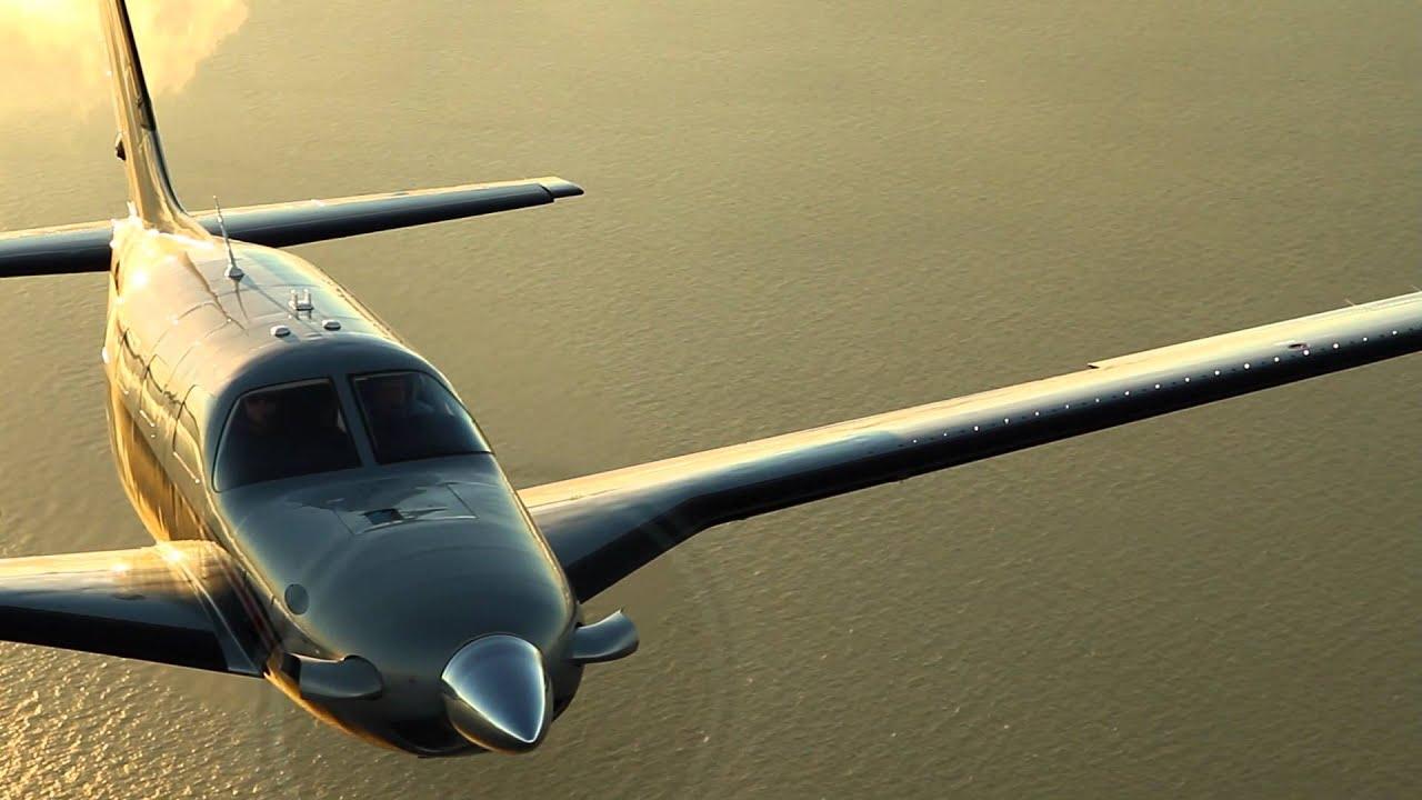 Piper Meridian In Flight