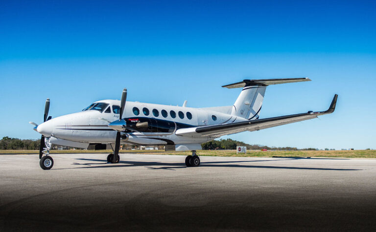 Turboprop Charter Airplane